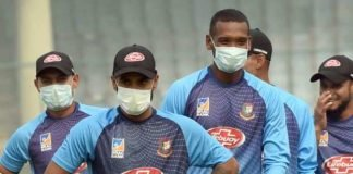 Bangladesh in practice with masks on ahead of the 1st T20I in the India vs Bangladesh series