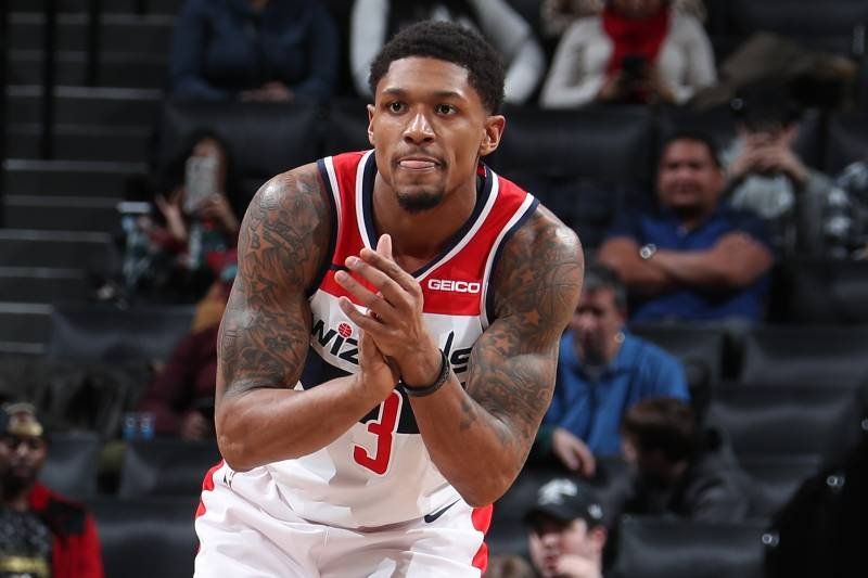 Bradley Beal playing for Washington Wizards