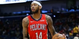 Brandon Ingram playing for New Orleans Pelicans