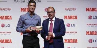 Christiano Ronaldo was awarded the Marca Leyenda