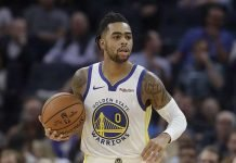 D'Angelo Russell of the Golden State Warriors