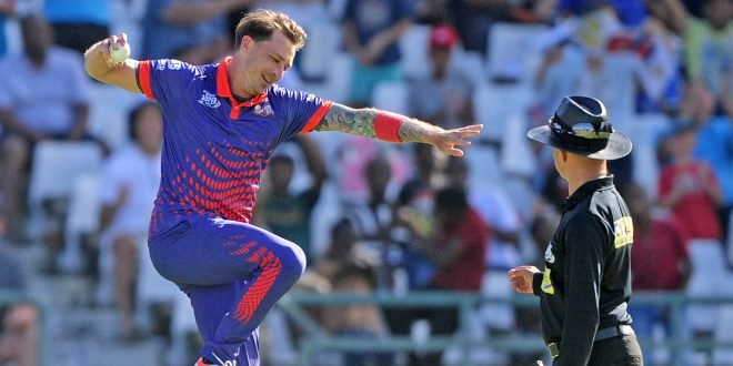 Dale Steyn celebrating