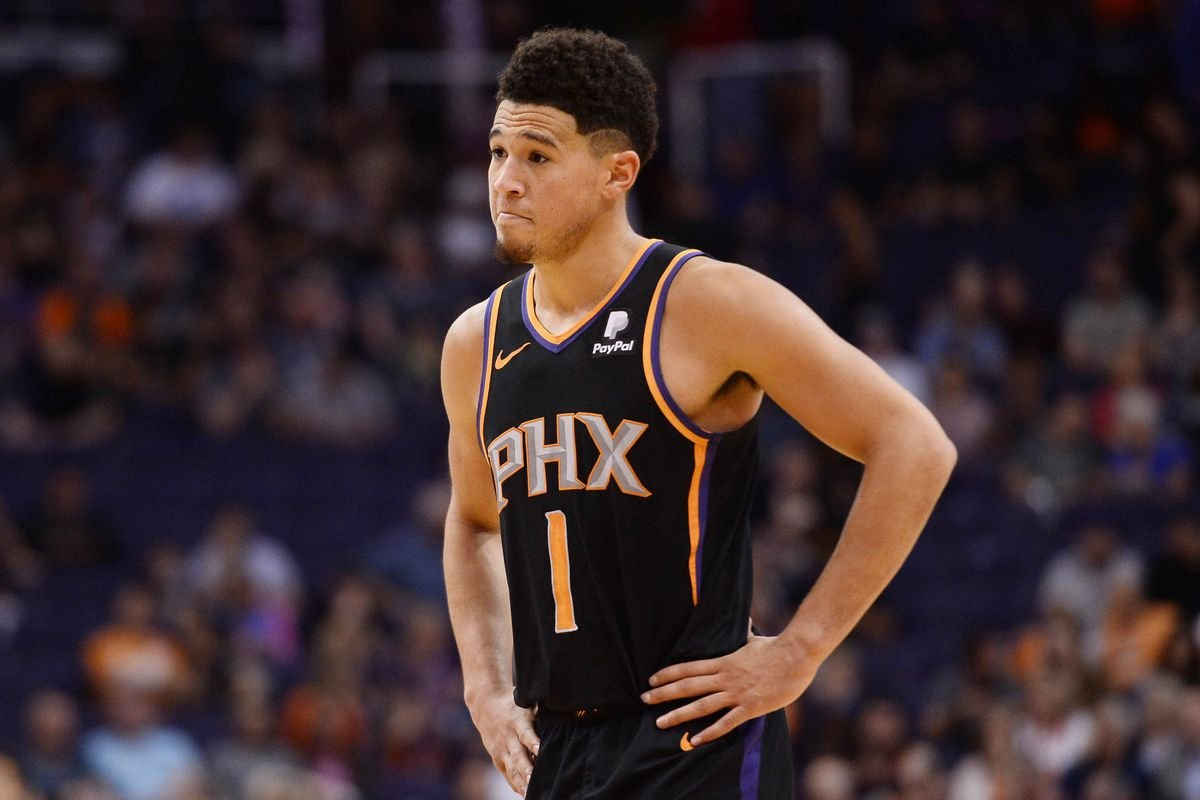 WATCH: Devin Booker Laughs Off the Idea of Playing NBA 2K With Phoenix Suns thumbnail