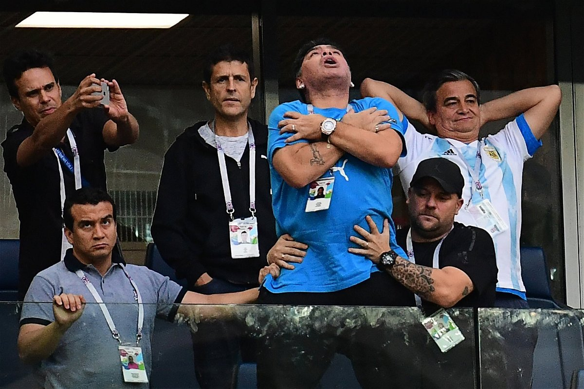 Maradona was a mess during the Argentina game