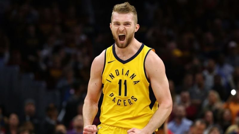 Domantas Sabonis playing for Indiana Pacers