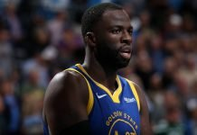 Draymond Green in a Golden State Warriors jersey