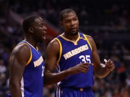File photo of Draymond Green and Kevin Durant