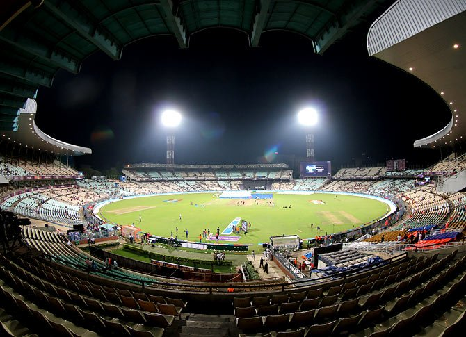 Eden Gardens under lights