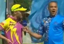 Faf du Plessis talking at the toss in the Mzansi Super League