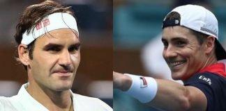 Roger Federer and John Isner