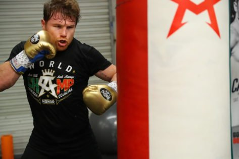 WATCH: Canelo Alvarez Gives Private Boxing Lessons to Manny Pacquiao's Son
