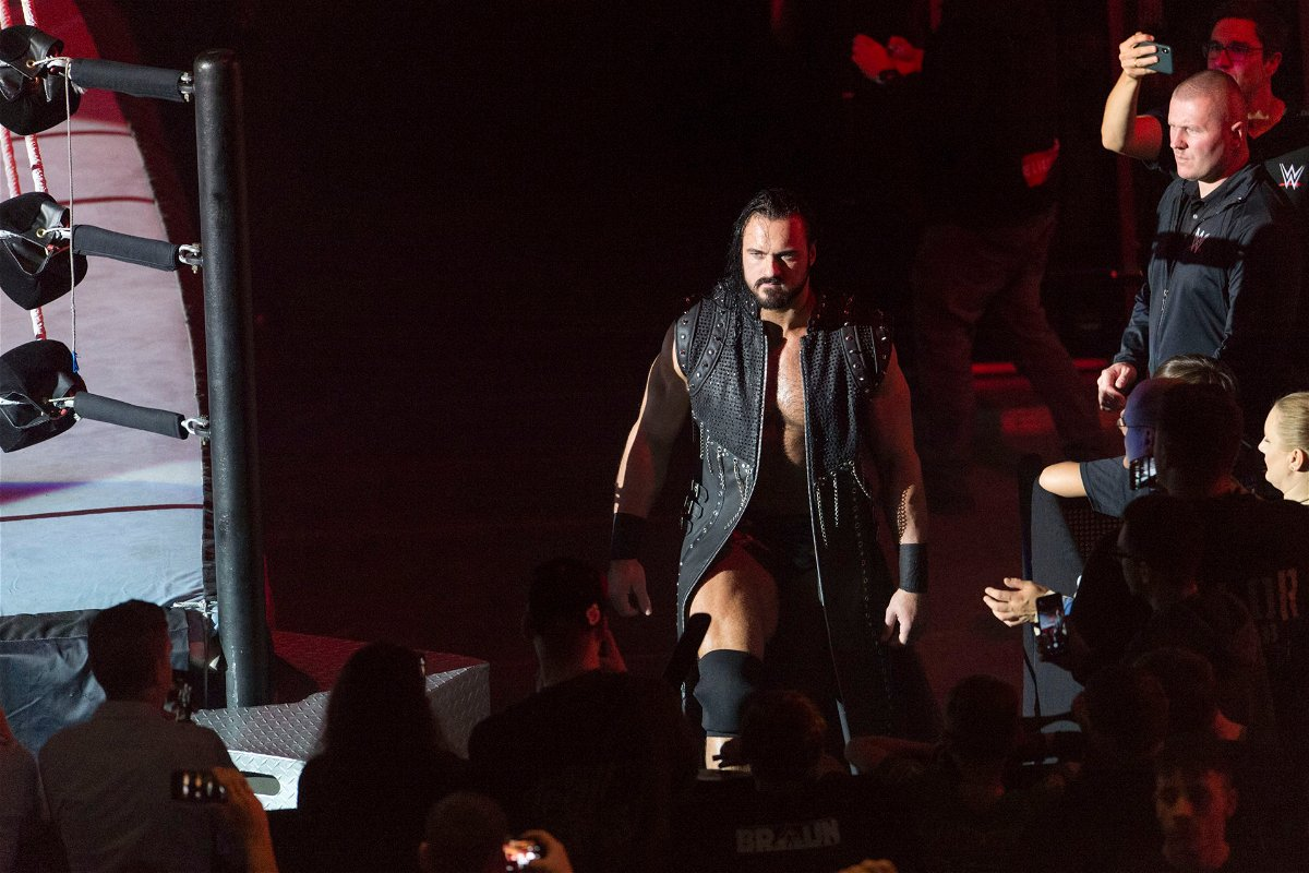 Drew McIntyre on his way to the ring