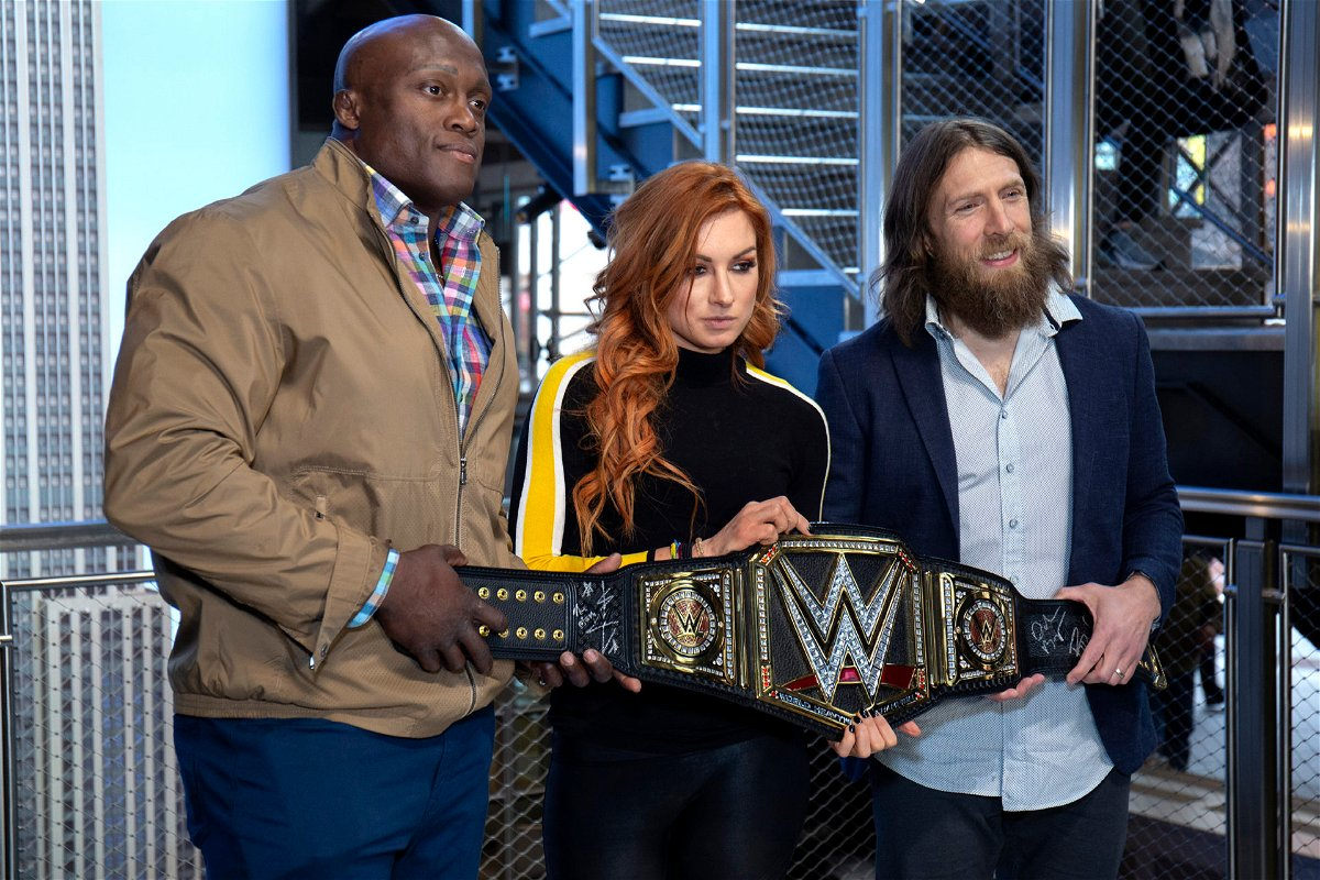Bobby Lashley, Becky Lynch and Daniel Bryan