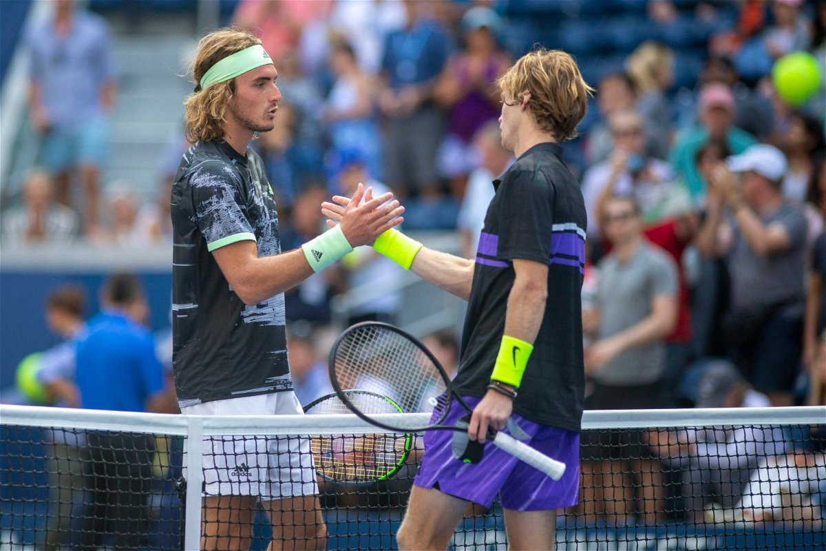 Stefanos Tsitsipas and Andrey Rublev at the 2019 US Open