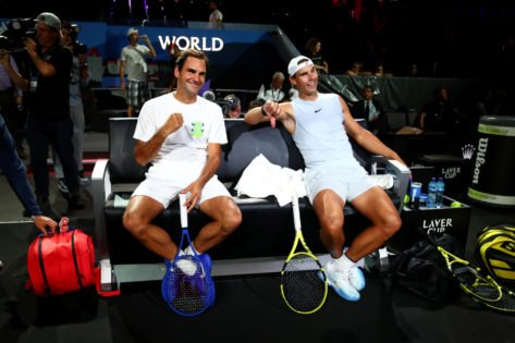 FRIENDSHIP GOALS! Roger Federer Thanks Good Friend Rafael Nadal and Barilla for Keeping up a 'Roof Top' Promise