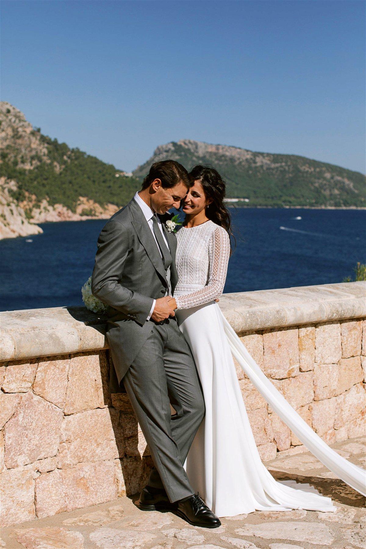 Rafael Nadal with wife Maria Perello