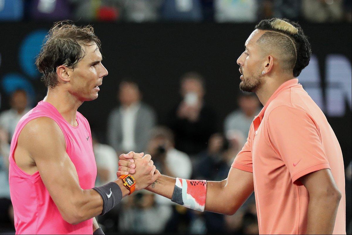 Rafael Nadal with Nick Kyrgios - Australian Open