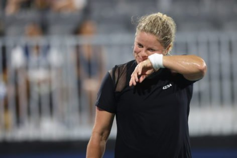 """""""Improving Overall"""": Kim Clijsters Keeps Positive Outlook Following Chicago Fall Tennis Classic R1 Loss"""