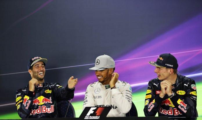Ricciardo, Hamilton, Verstappen