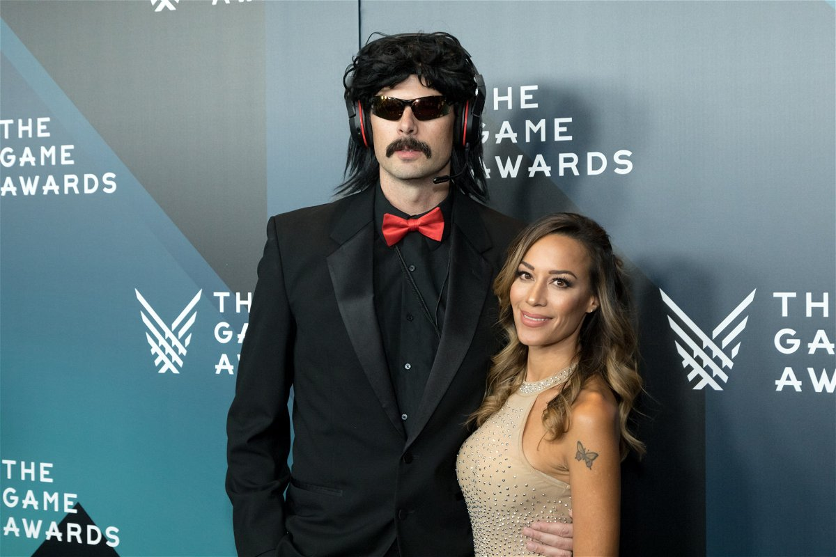 Dr Disrespect with his wife at the game awards 2017