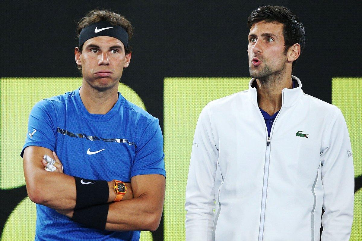 Novak Djokovic and Rafael Nadal at Australian Open