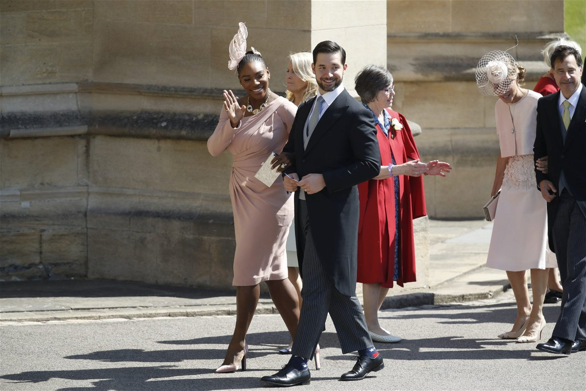 Serena Williams with her husband Alexis Ohanian