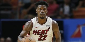 Jimmy Butler playing for Miami Heat