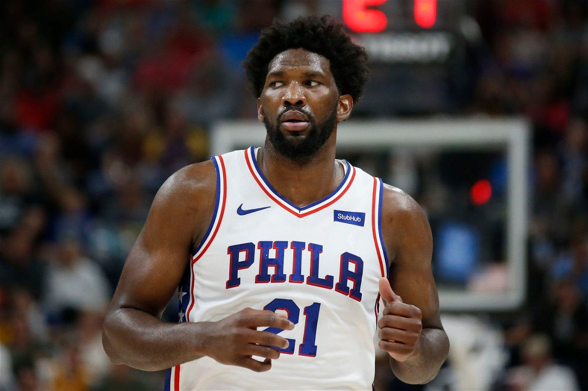 Joel Embiid playing for Philadelphia 76ers