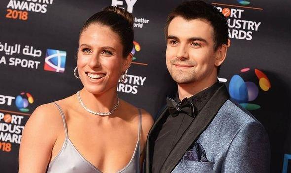 Johanna Konta with her boyfriend Jackson Wade