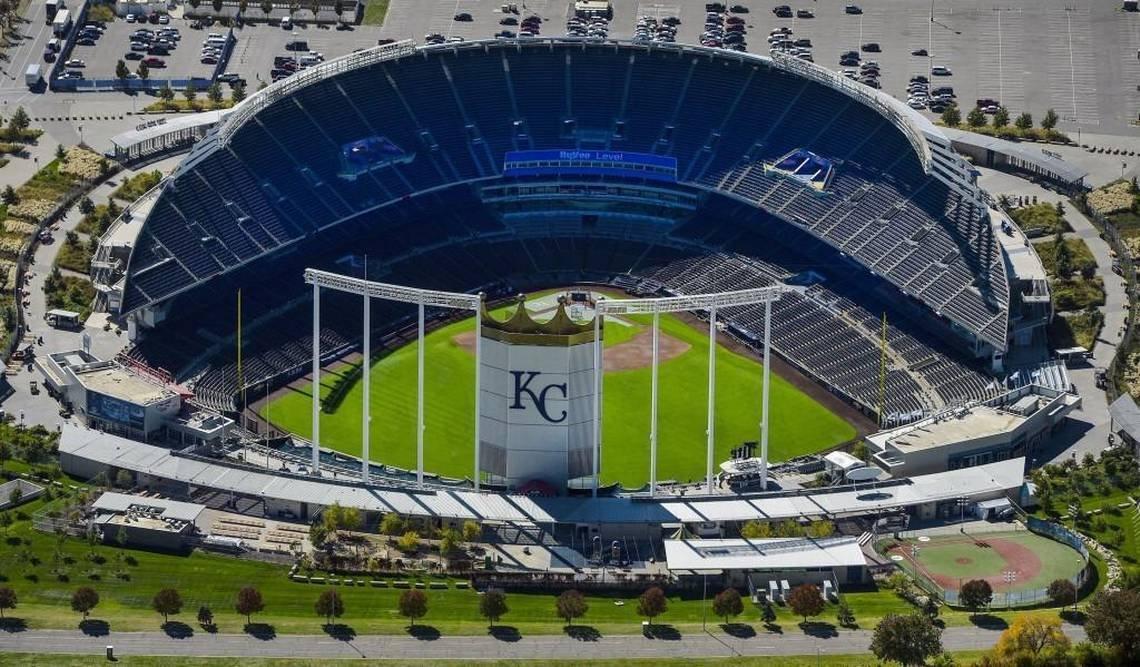 The Kauffman Stadium- Home to Kansas City Royals