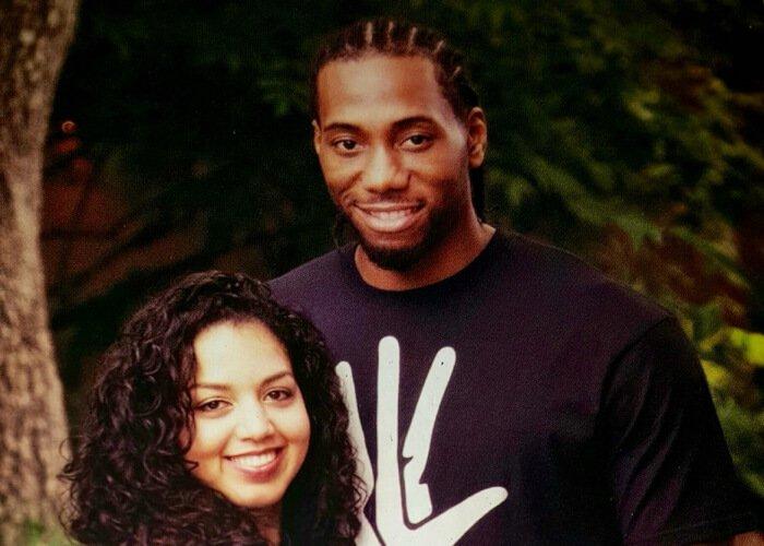 Kawhi Leonard's Girlfriend Kishele Shipley with Leonard