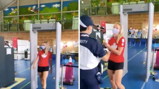 Hilarious! Cycling Olympic Gold Medalist Kelsey Mitchell Pulls Brilliant Prank On Airport Security