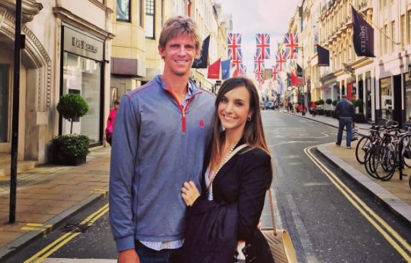 Kevin Anderson with wife Kelsey Anderson