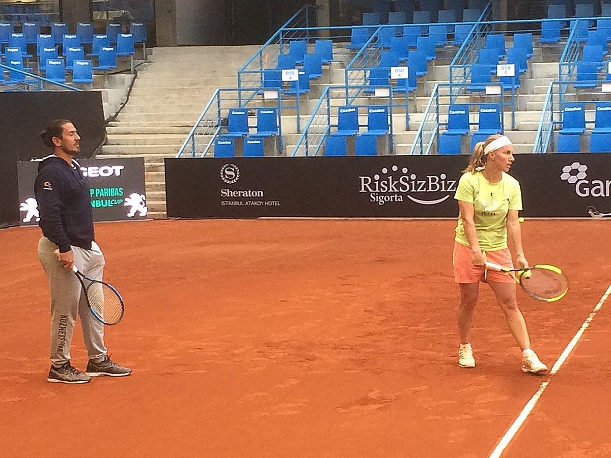 Svetlana Kuznetsova with her former coach