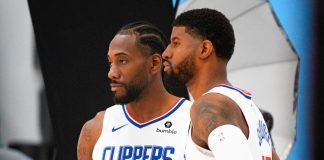 Kawhi Leonard & Paul George playing for Los Angeles Clippers