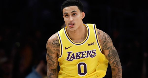 Kyle Kuzma playing for Los Angeles Lakers