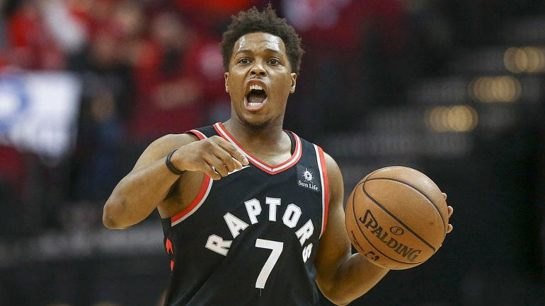 Kyle Lowry playing for Toronto Raptors