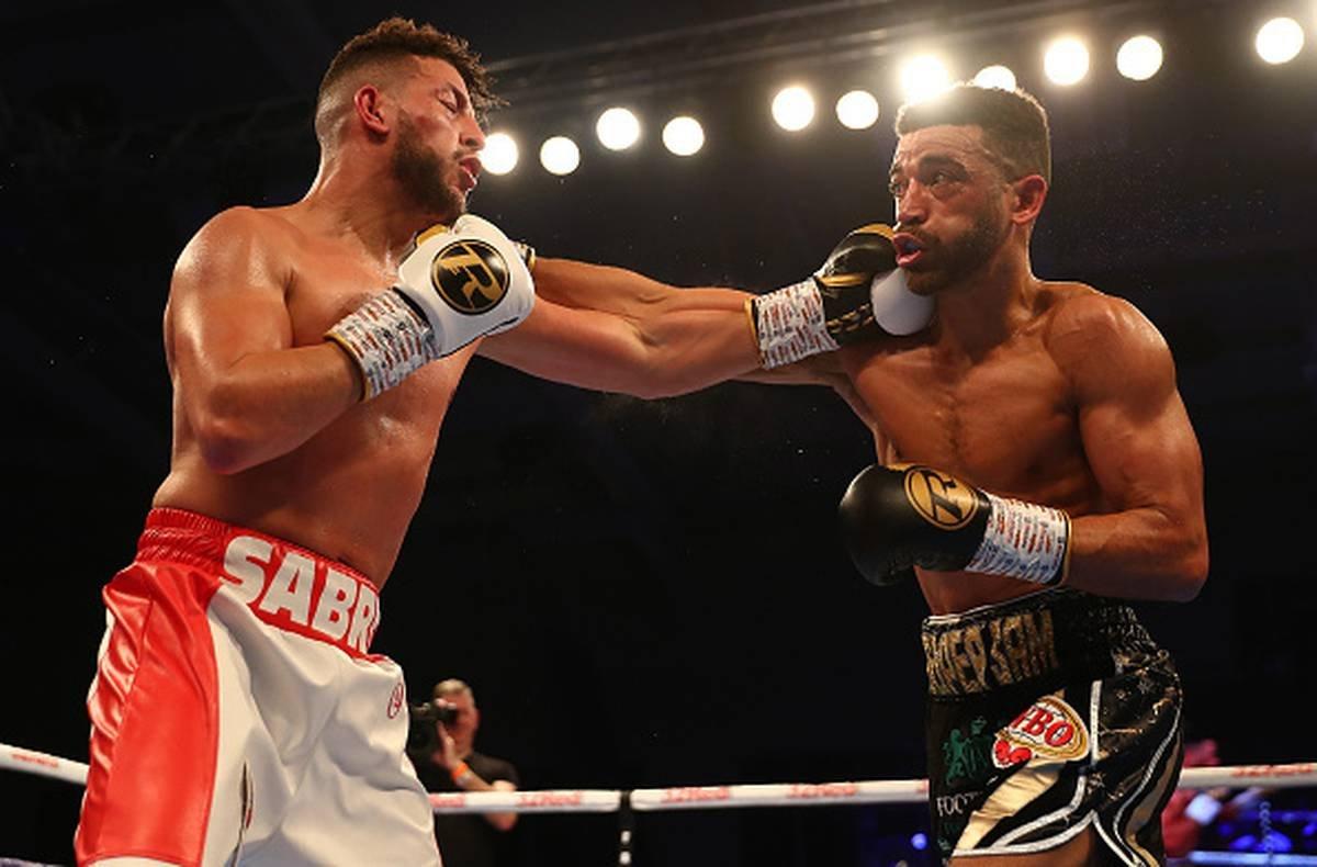 Sam Maxwell and Sabri Sediri in a boxing match