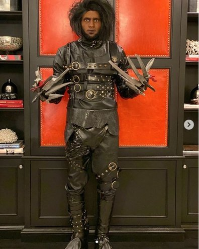 LeBron James in his costume for the 2019 Halloween