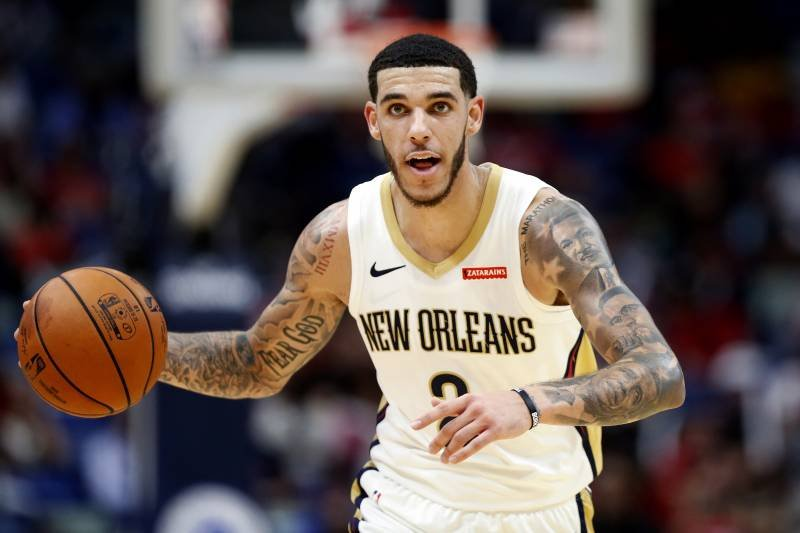 Lonzo Ball playing for New Orleans Pelicans