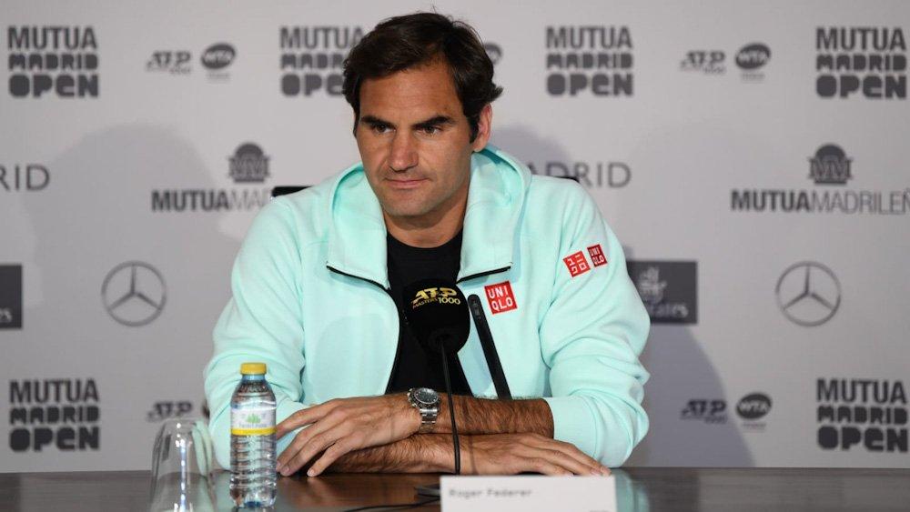 Roger Federer in Madrid