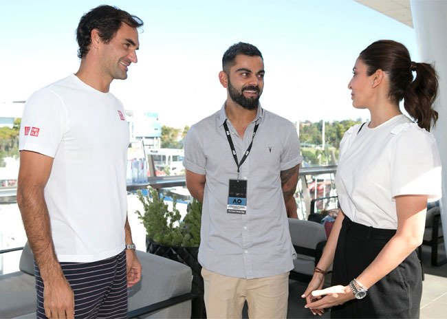 Kohli meets Federer at Australian Open 2019