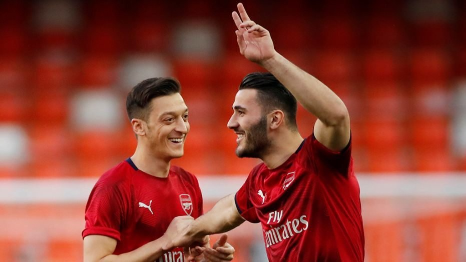 Mesut Özil and Seid Kolasinac