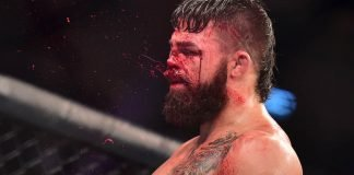 Mike Perry's nasty injury