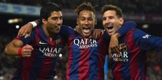 Luis Suarez, Neymar and Lionel Messi