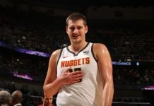 Nikola Jokic playing for Denver Nuggets