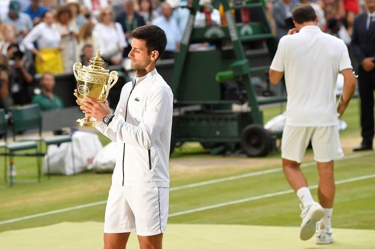 Novak Djokovic Wimbledon 2020