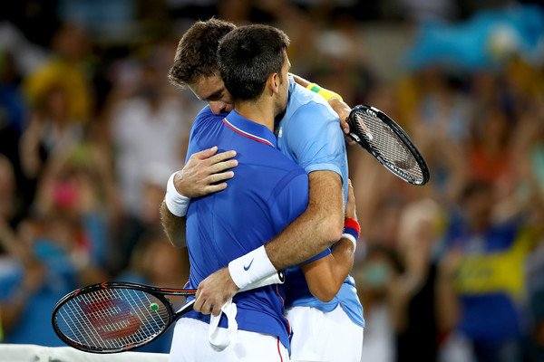 Del Potro and Djokovic
