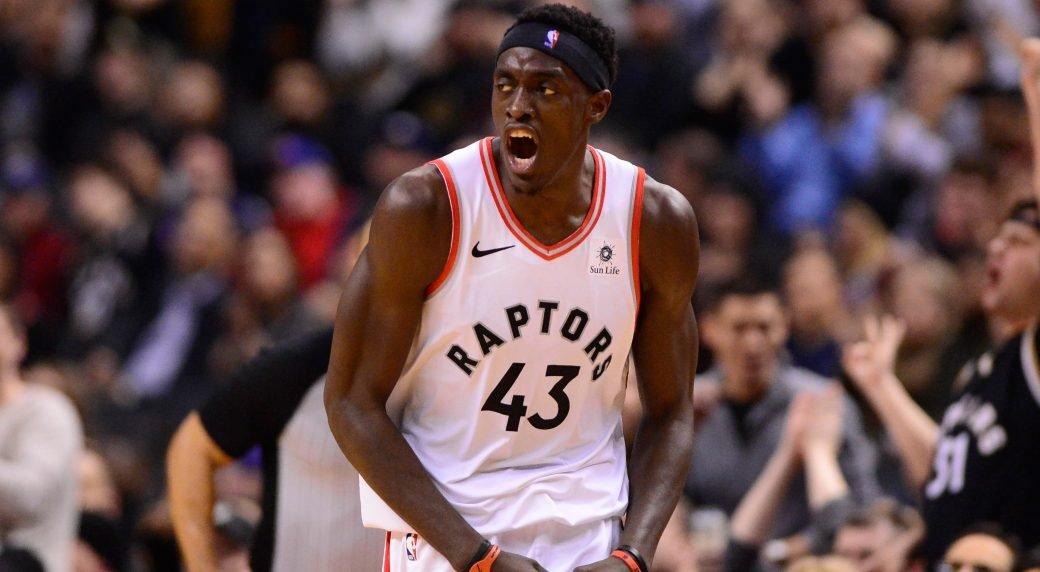 Pascal Siakam playing for Toronto Raptors