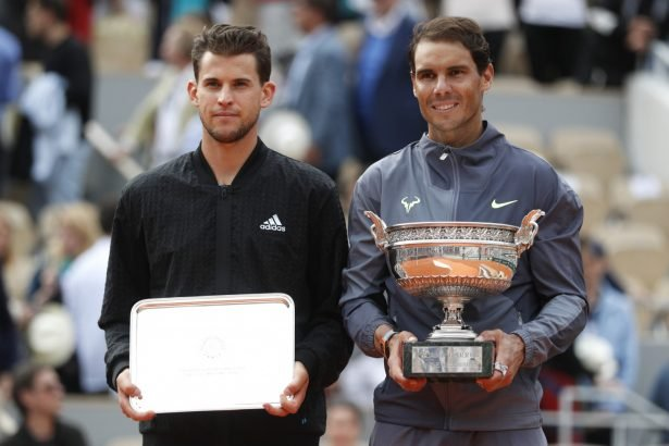 Dominic Thiem and Rafael Nadal